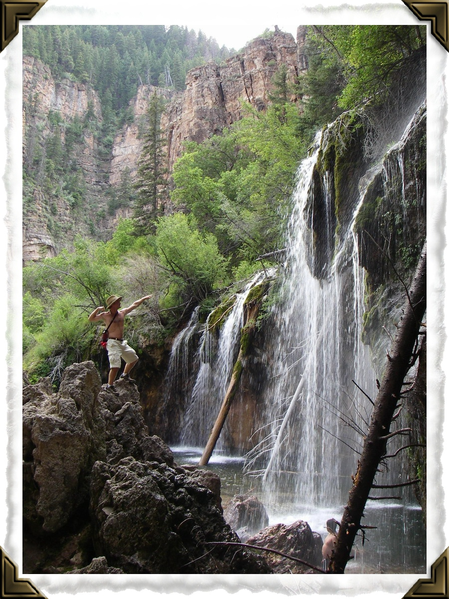Hiking up to Hanging Lake near Glenwood Springs, Colorado